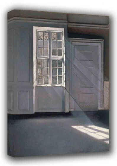 Hammershoi, Wilhelm: Dust Motes Dancing in the Sunbeams. Fine Art Canvas. Sizes: A3/A2/A1 (00490)